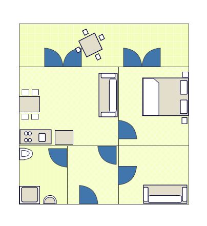 Ground-plan of the apartment - Ivančica - 3+1